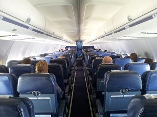 Салон самолета Боинг-737-500 авиакомпании Трансаэро