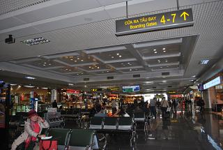 In the clean area of airport Hanoi, Noi Bai