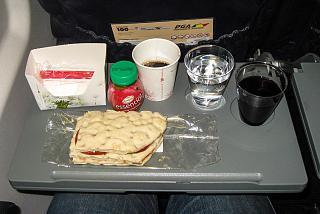 Питание на рейсе Portugalia Airlines Лиссабон-Валенсия