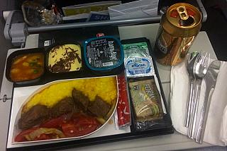 A meal on a flight of Turkish airlines Antalya-Moscow