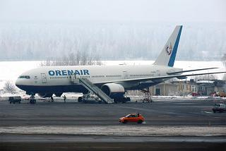 Boeing-777-200 Orenburg airlines at the airport in Moscow Domodedovo