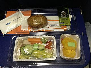 Питание на рейсе авиакомпании Арофлот Сочи-Пермь