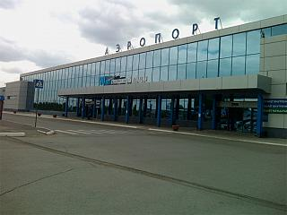 The international terminal At the airport of Omsk
