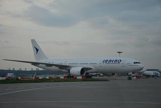 "Boeing-777-200 of airline ""Iraero"" at Vnukovo airport"