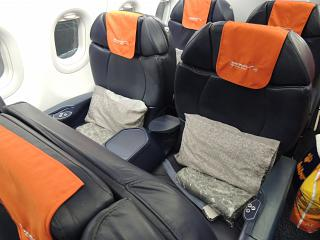 The business class in the Airbus A319 Aeroflot