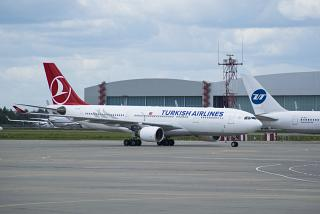 Airbus A330-200 Turkish Airlines at Vnukovo airport