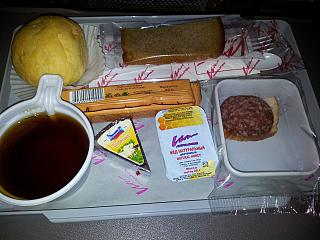 Food on the flight Moscow-Sochi VIM-Avia