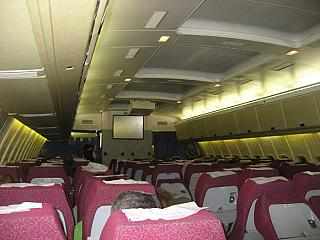 The cabin of the aircraft Il-86 airline Atlant-Soyuz