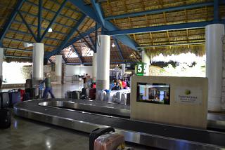 Baggage claim at the airport of Punta Cana