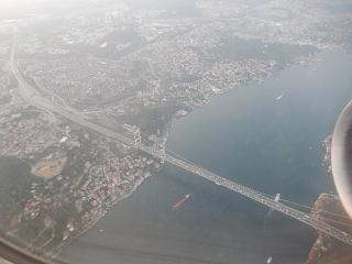 The bridge over the Bosphorus Strait