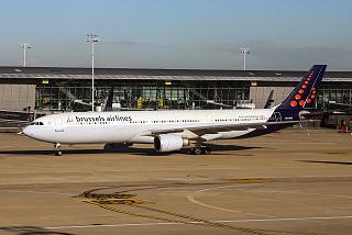 The Airbus A330-300 Brussels Airlines at Brussels airport