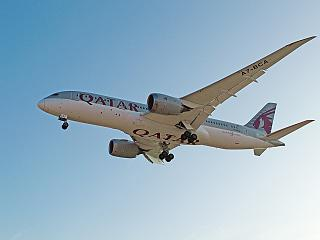 Boeing-787-8 A7-BCA Qatar Airways sits at the airport of Marrakech