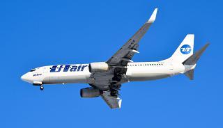 """In flight Boeing-737-800 VQ-BJF """"Viktor Muravlenko"""" airline UTair"""