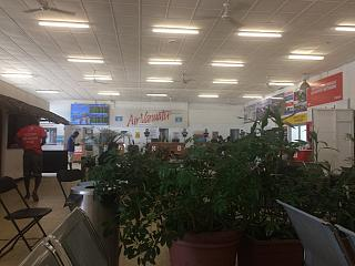In the domestic terminal of the airport of Port Vila