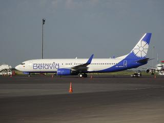"Boeing-737-800 EW-457PA airline ""Belavia"" in Astana airport"