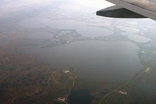 In flight over Western Siberia