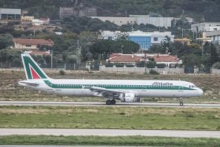 Airbus A321 I-BIXQ Alitalia Palermo airport