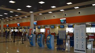 Reception in terminal E of Sheremetyevo airport