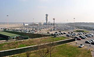 Car Parking at the airport of Milan Malpensa