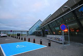 The entrance to the terminal of the airport is Reykjavik Keflavik