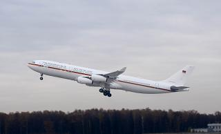 Airbus A340-300 of the government of the German squadron at Vnukovo airport