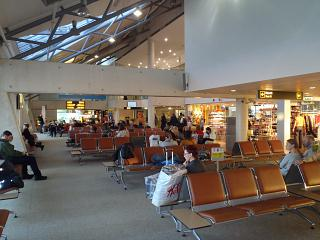 The waiting room in a clean area of the airport of Tallinn
