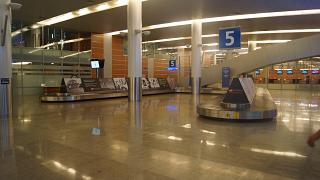 Baggage claim in terminal D of Sheremetyevo airport