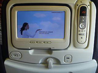 The entertainment system in the Boeing 777-300 Air France