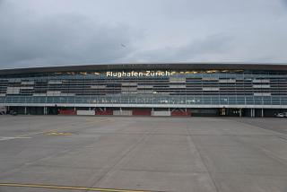 The passenger terminal of Zurich airport