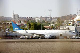 The Embraer 190 Arkia airlines at the airport of Eilat