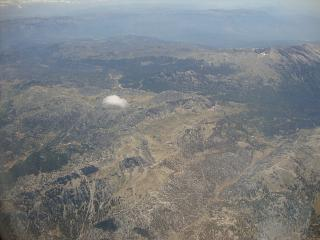Over the mountains of Turkey after takeoff from Antalya