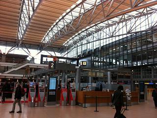 Информационная стойка в Терминале 1 аэропорта Гамбург