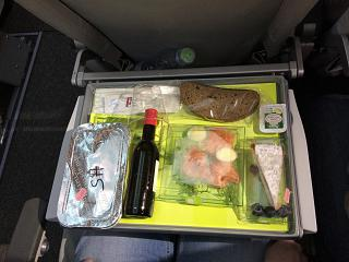 Dinner on the flight of airBaltic