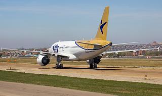 Airbus A319 авиакомпании I-Fly в аэропорту Иркутска