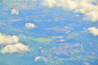 In flight over Germany
