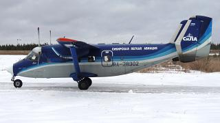 Antonov an-28 RA-28902 airlines Force at the airport of Ust-Ilimsk