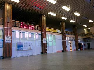 In the terminal building of the airport Ukhta