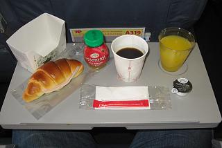 Food on the flight Porto-Funchal TAP Portugal