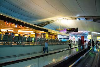 In a clean area of the airport is Bangkok Suvarnabhumi