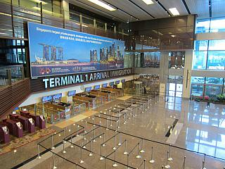 Arrival area of terminal 1 of Singapore Changi airport