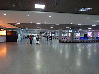 The baggage claim area of the airport Mohammed V