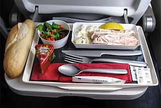 Food on the flight of the airline air France Marseille Moscow