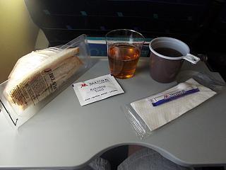 Food on the flight Milan-Minsk Belavia airlines