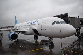Airbus A320 Cobalt completed its first flight to Moscow