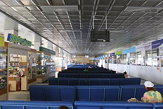 The waiting room on the 2nd floor of the terminal building of the airport Emelyanovo