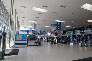 The departure hall at the Ostrava Leos Janacek Airport