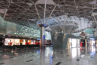 Duty-Free shops in a clean area of the international departures terminal A of Vnukovo airport