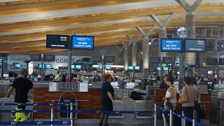 Reception at the Oslo airport Gardermoen