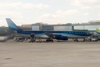 Airbus A340-500 in AZAL airlines at Domodedovo airport