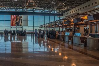 Reception in terminal 1 of Milan Malpensa airport